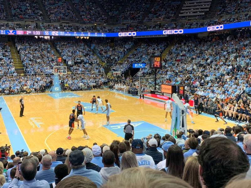 Seating view for Dean E. Smith Center Section 133 Row P Seat 3