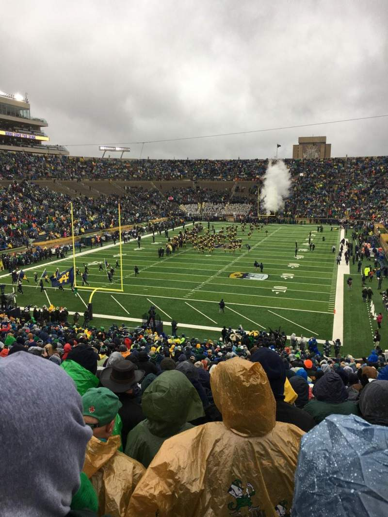 Seating view for Notre Dame Stadium Section 17 Row 56 Seat 32