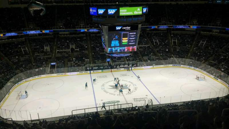 Seating view for SAP Center Section 216 Row 17 Seat 6
