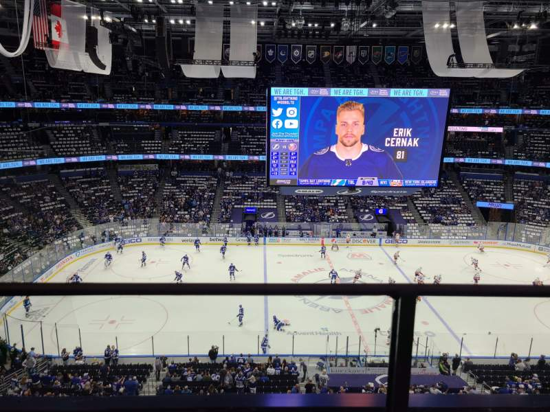 Seating view for Amalie Arena Section 317 Row A Seat 6