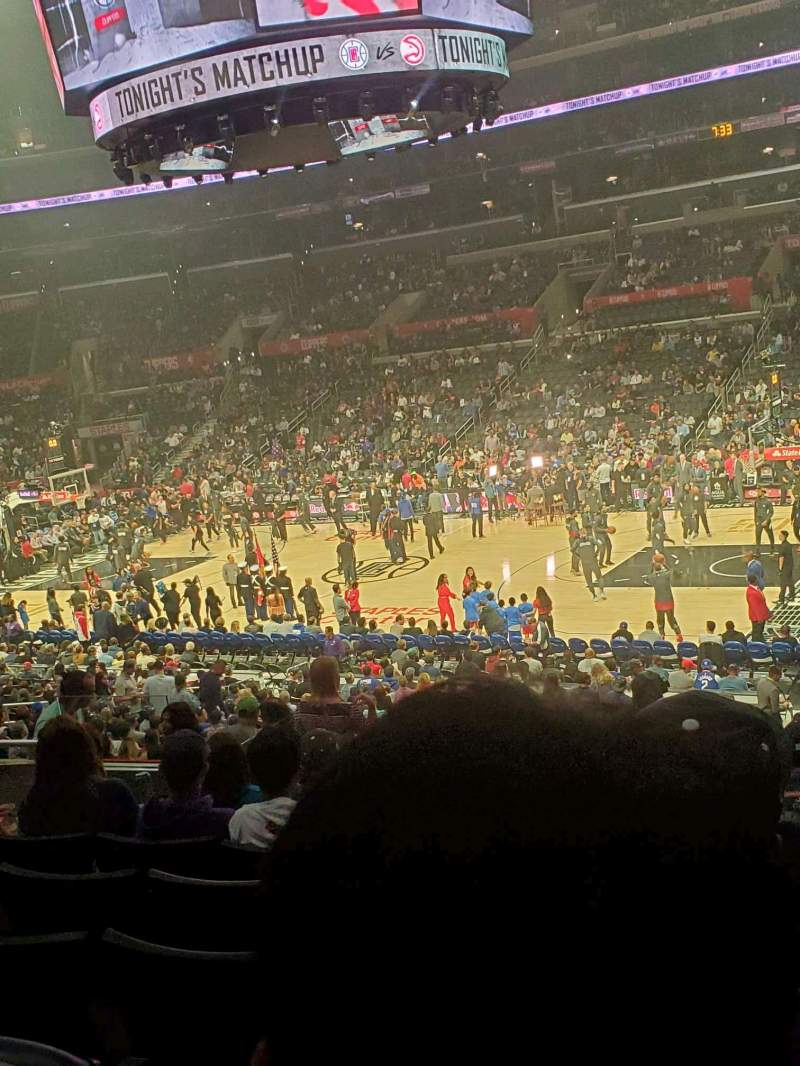 Seating view for Staples Center Section PR12 Row 7 Seat 6