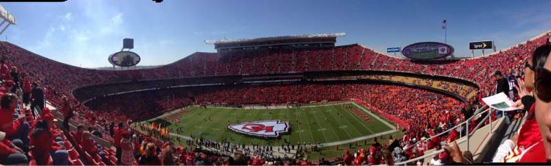 Seating view for Arrowhead Stadium Section 346 Row 17 Seat 4