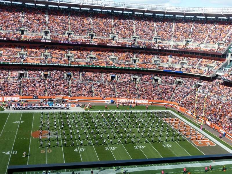 Seating view for FirstEnergy Stadium Section 508 Row 10 Seat 24