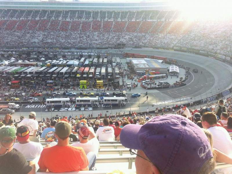 Seating view for Bristol Motor Speedway Section Pearson L Row 45? Seat 12