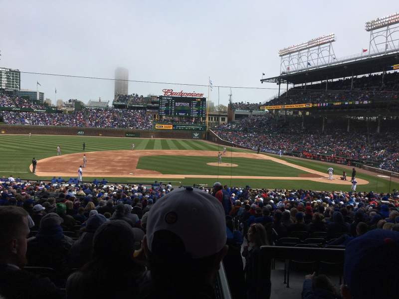 Seating view for Wrigley Field Section 212 Row 5 Seat 9