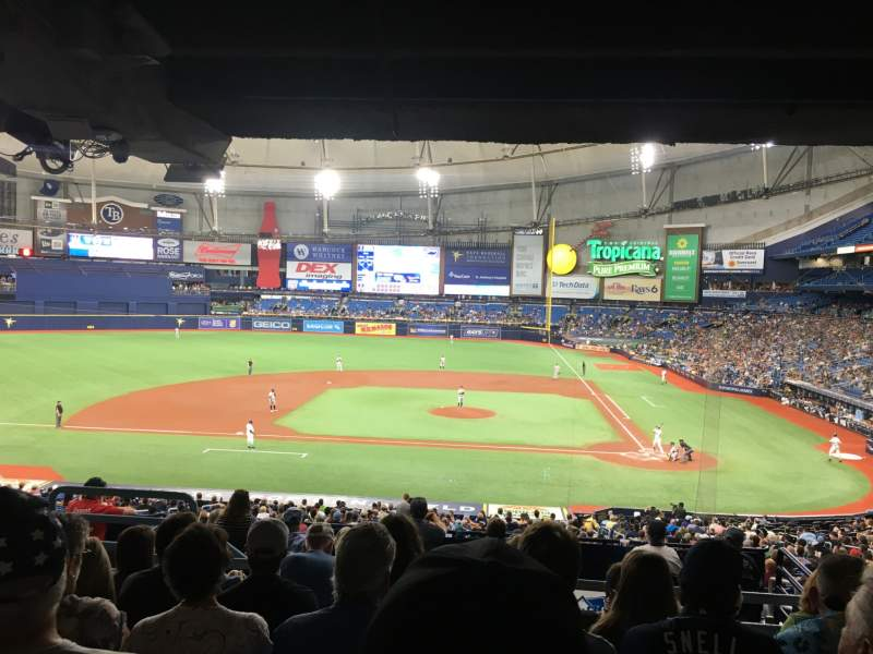 Seating view for Tropicana Field Section 111 Row UU Seat 5