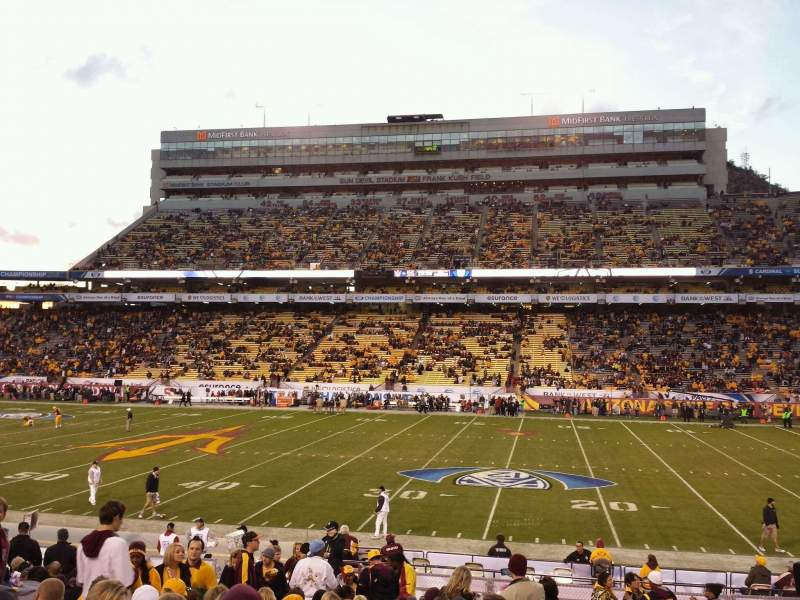 Seating view for Sun Devil Stadium Section 28 Row 22 Seat 23