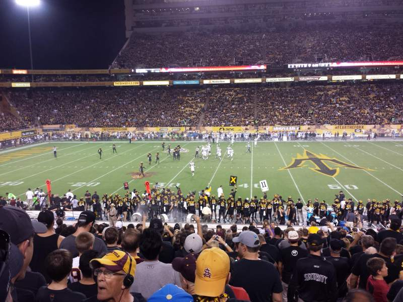 Seating view for Sun Devil Stadium Section 31 Row 31 Seat 1