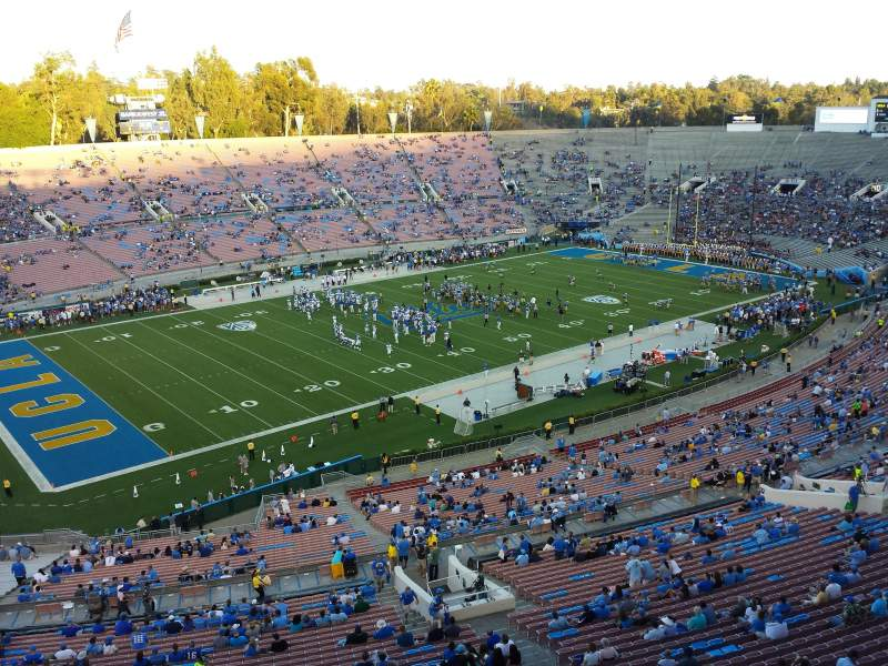 Seating view for Rose Bowl Section Club E213 Row B Seat 1