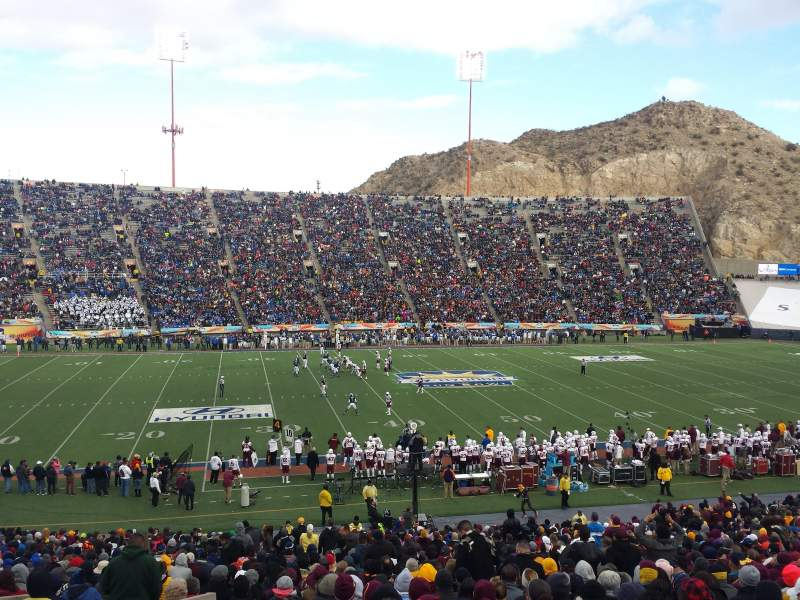 Seating view for Sun Bowl Stadium Section 6 Row 41 Seat 31