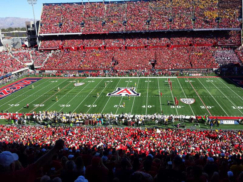 Seating view for Arizona Stadium Section 20 Row 74 Seat 22
