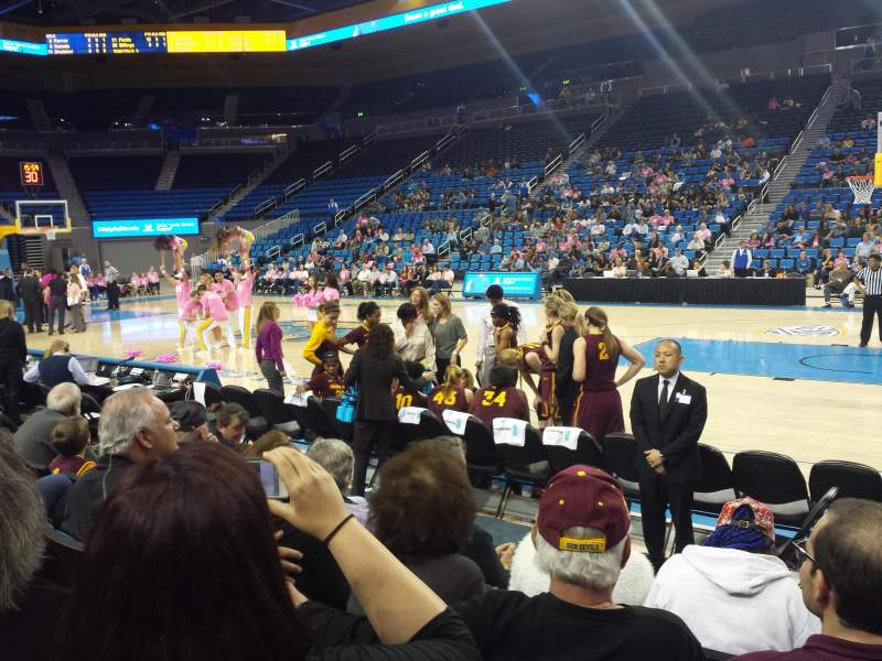 Seating view for Pauley Pavilion Section 101 Row D Seat 1