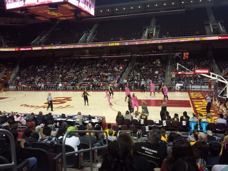 Seating view for Galen Center Section 118 Row 11 Seat 12