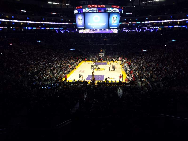 Seating view for Staples Center Section Suite A27 Row 1 Seat 1