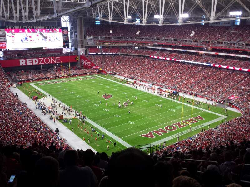 Seating view for University of Phoenix Stadium Section 434 Row 16 Seat 1