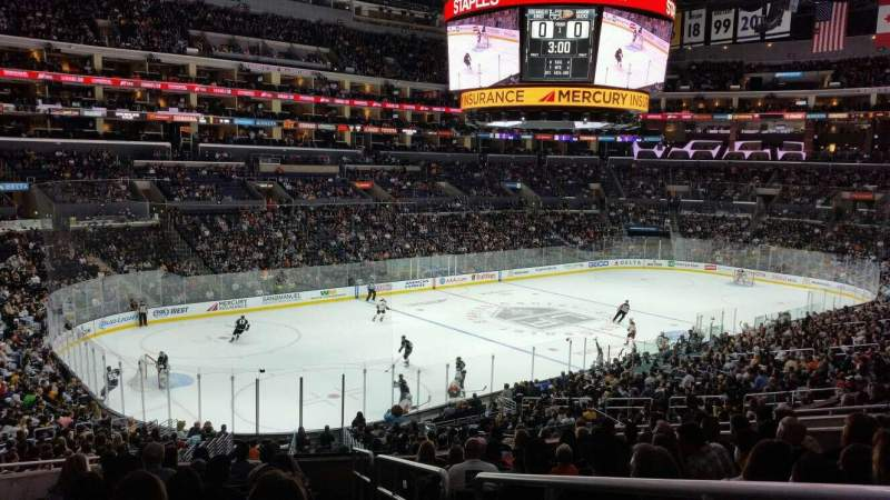 Seating view for Staples Center Section PR9 Row 12 Seat 1