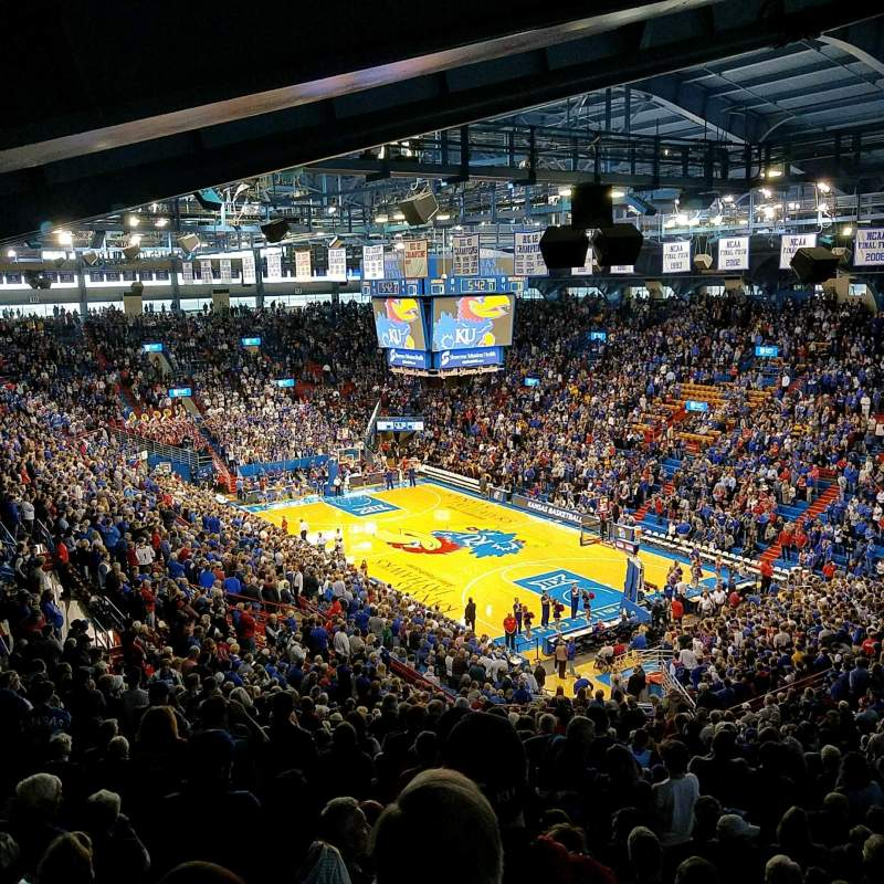 Allen Fieldhouse, section: Corner 2A, row: 33, seat: 18