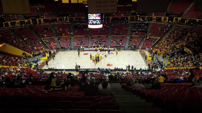 Wells Fargo Arena Tempe Section T1 Row 41 Seat 1 Arizona State Sun Devils Vs Long Beach 49ers Shared By Treymar