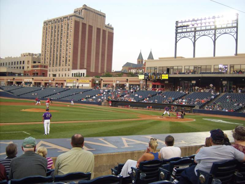 Seating view for Canal Park Section 112 Row G Seat 4
