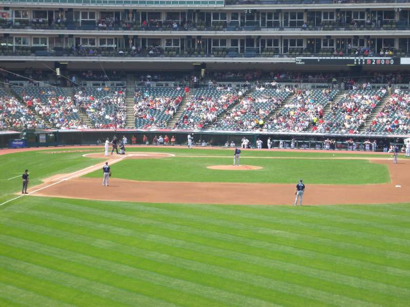 Seating view for Progressive Field Section 309 Row B