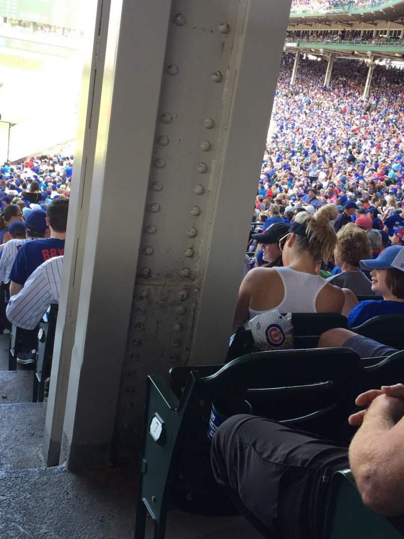 Wrigley Field, section: 219, row: 7, seat: 1