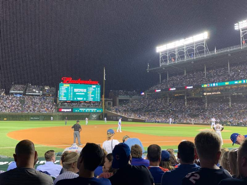 Seating view for Wrigley Field Section 10 Row 12 Seat 3