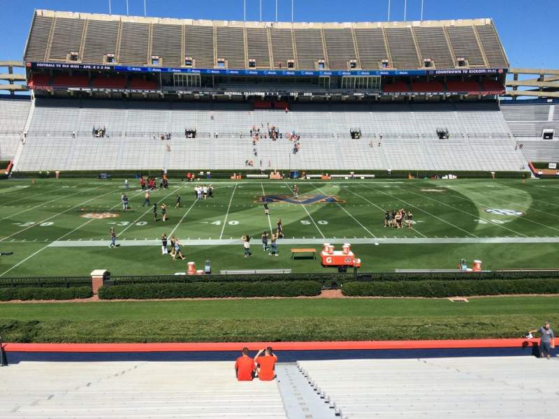 Seating view for Jordan-Hare Stadium Section 28 Row 27 Seat 1