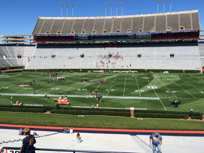 Seating view for Jordan-Hare Stadium Section 30 Row 32 Seat 5