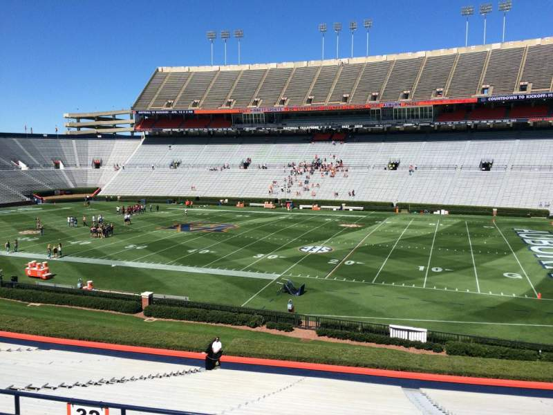 Seating view for Jordan-Hare Stadium Section 32 Row 32 Seat 5