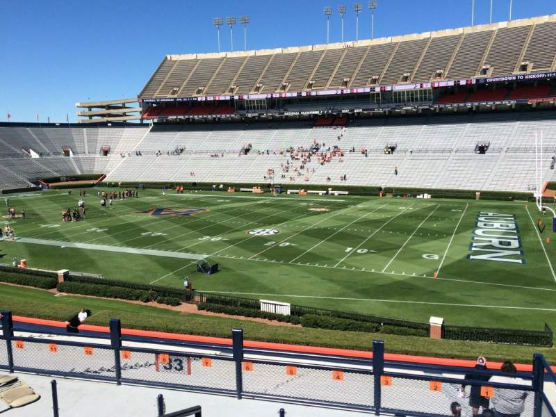 Seating view for Jordan-Hare Stadium Section 33 Row 32 Seat 5