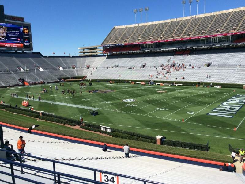 Seating view for Jordan-Hare Stadium Section 34 Row 32 Seat 5