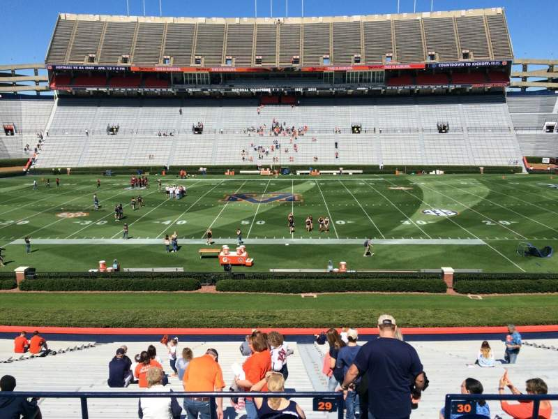 Seating view for Jordan-Hare Stadium Section 29 Row 32 Seat 1