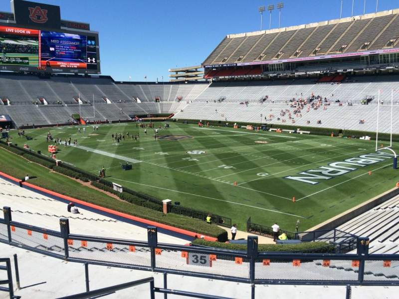Seating view for Jordan-Hare Stadium Section 35 Row 34 Seat 6