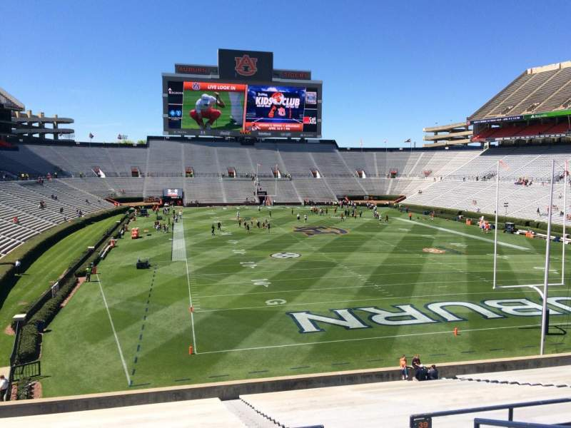 Seating view for Jordan-Hare Stadium Section 38 Row 34 Seat 5
