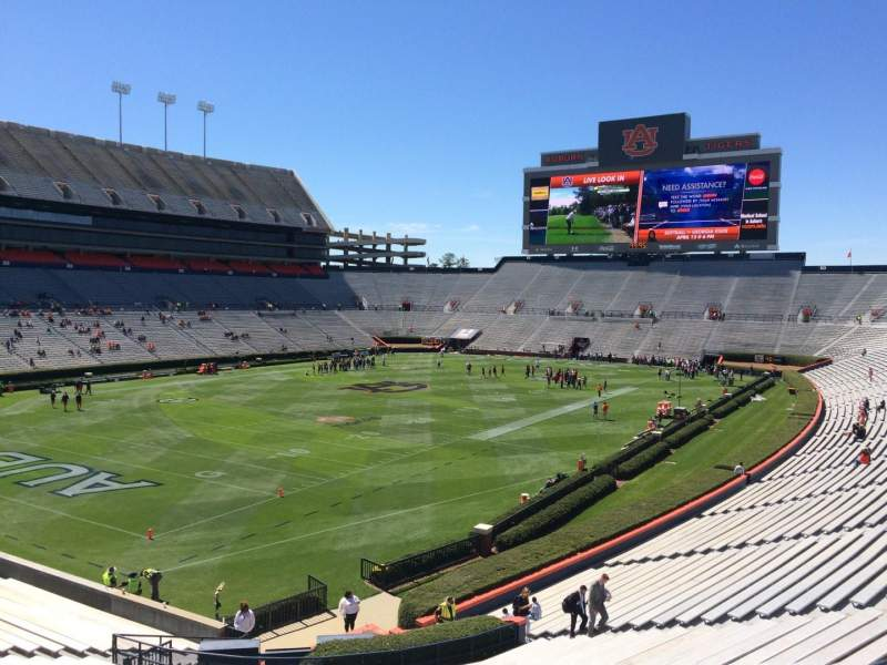 Seating view for Jordan-Hare Stadium Section 45 Row 34 Seat 5