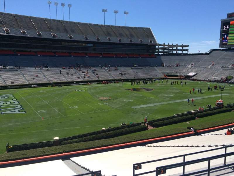 Seating view for Jordan-Hare Stadium Section 1 Row 34 Seat 5