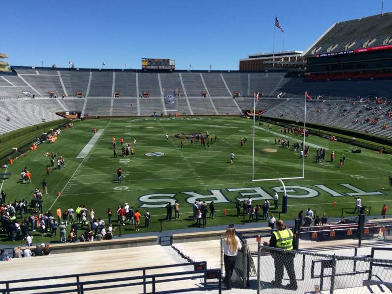Seating view for Jordan-Hare Stadium Section 16 Row 37 Seat 5