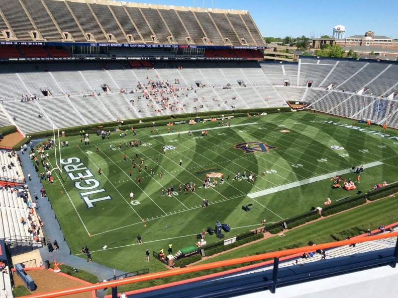 Seating view for Jordan-Hare Stadium Section 100 Row 5 Seat 7