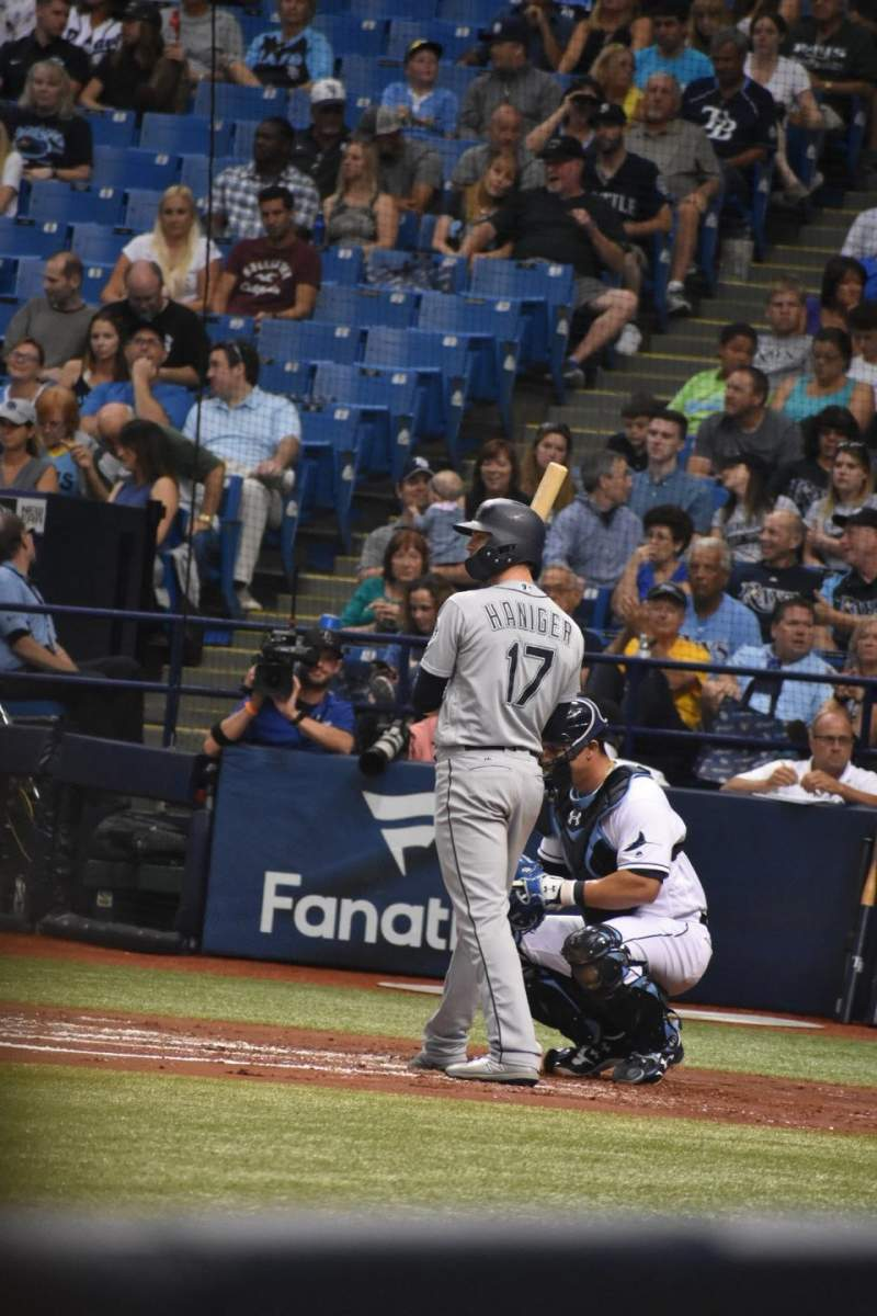 Seating view for Tropicana Field Section 123 Row 3 Seat 1