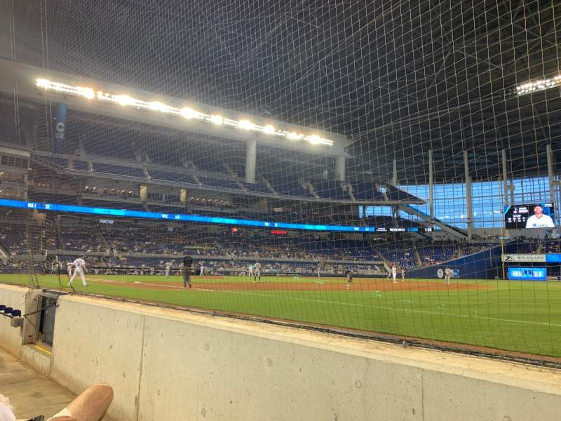 Seating view for Marlins Park Section Fl1 Row Bb Seat 1