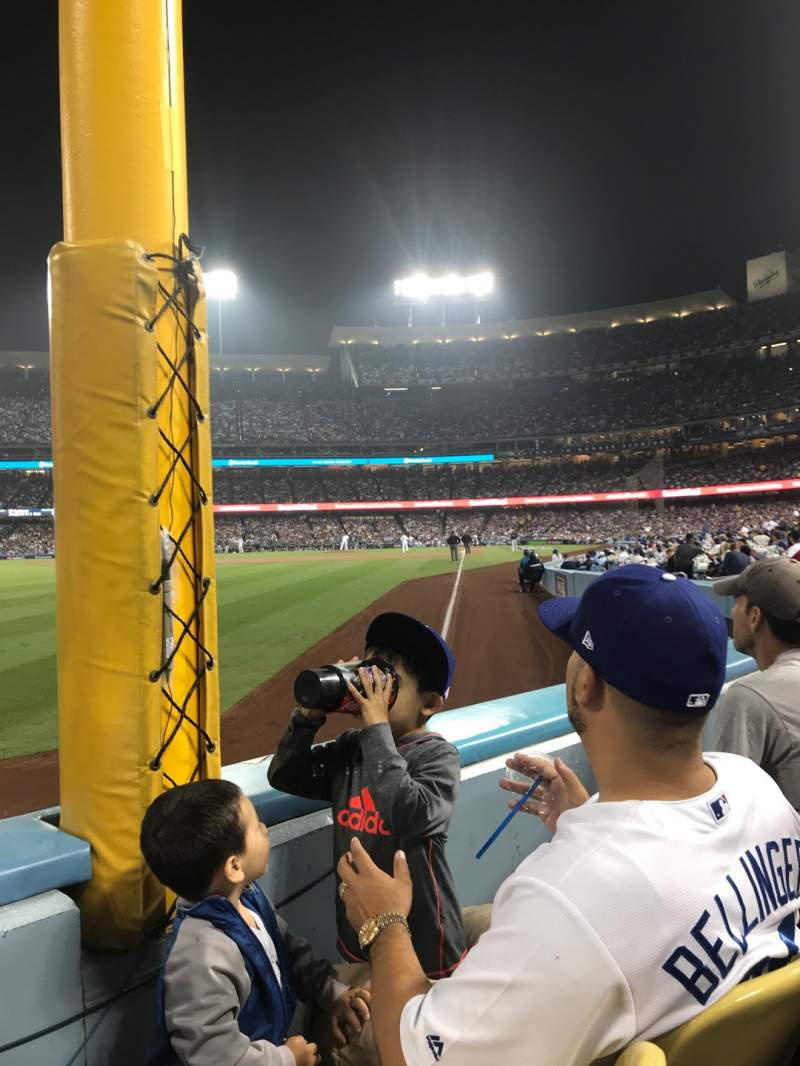 Seating view for Dodger Stadium Section 49FD Row A Seat 12