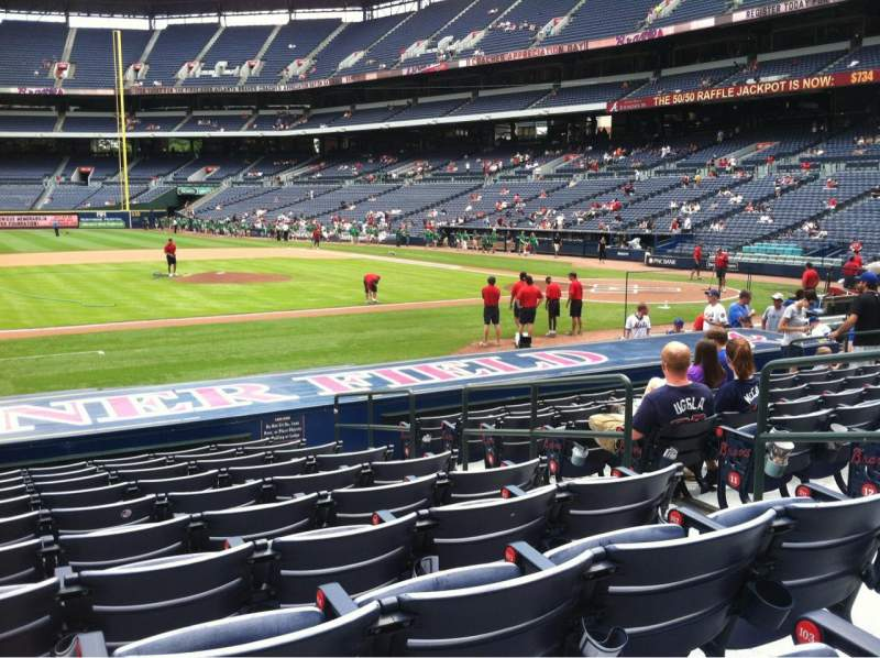 Seating view for Turner field Section 114R Row 15 Seat 6