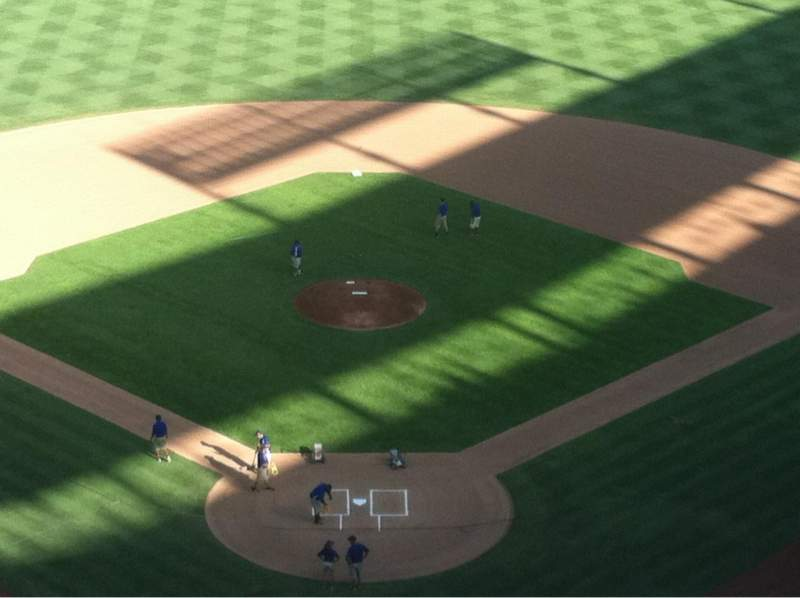 Seating view for Globe Life Park in Arlington Section 326 Row 16 Seat 10