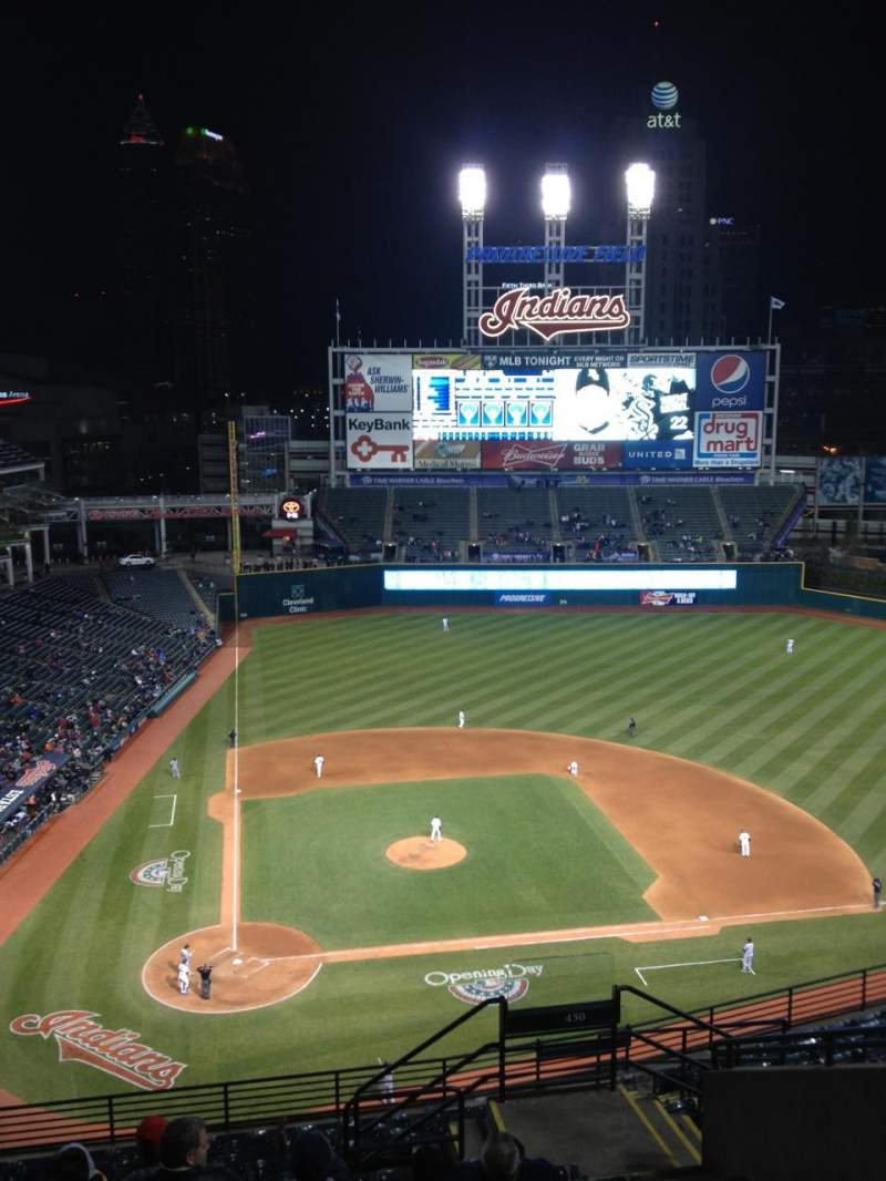 Seating view for Progressive Field Section 550 Row K Seat 9