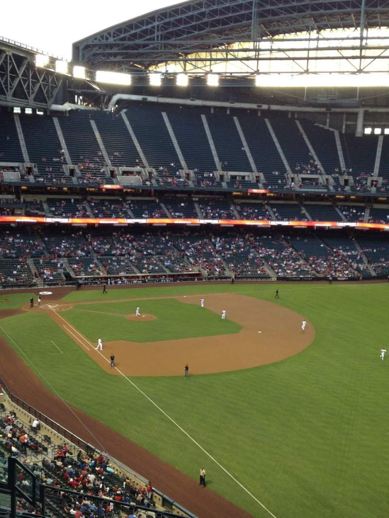Seating view for Chase Field Section 301 Row 11 Seat 13
