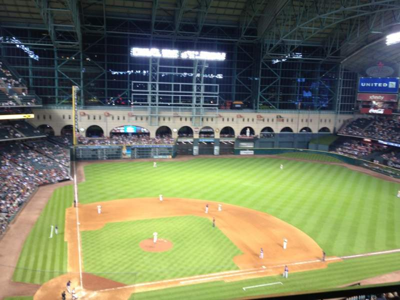 Seating view for Minute Maid Park Section 423 Row 1 Seat 3