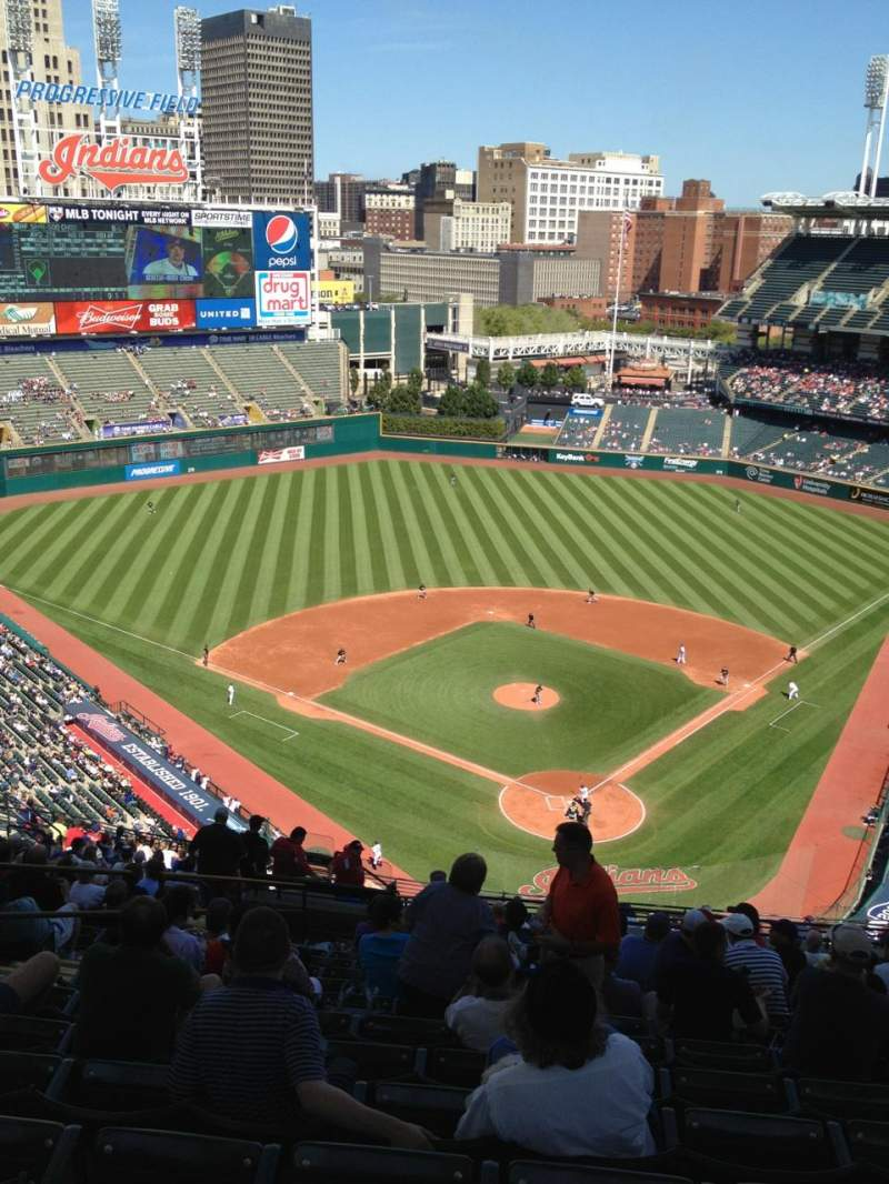 Seating view for Progressive Field Section 555 Row W Seat 18