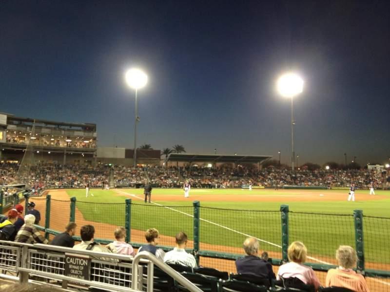 Goodyear Ballpark, section: 122, row: G, seat: 4