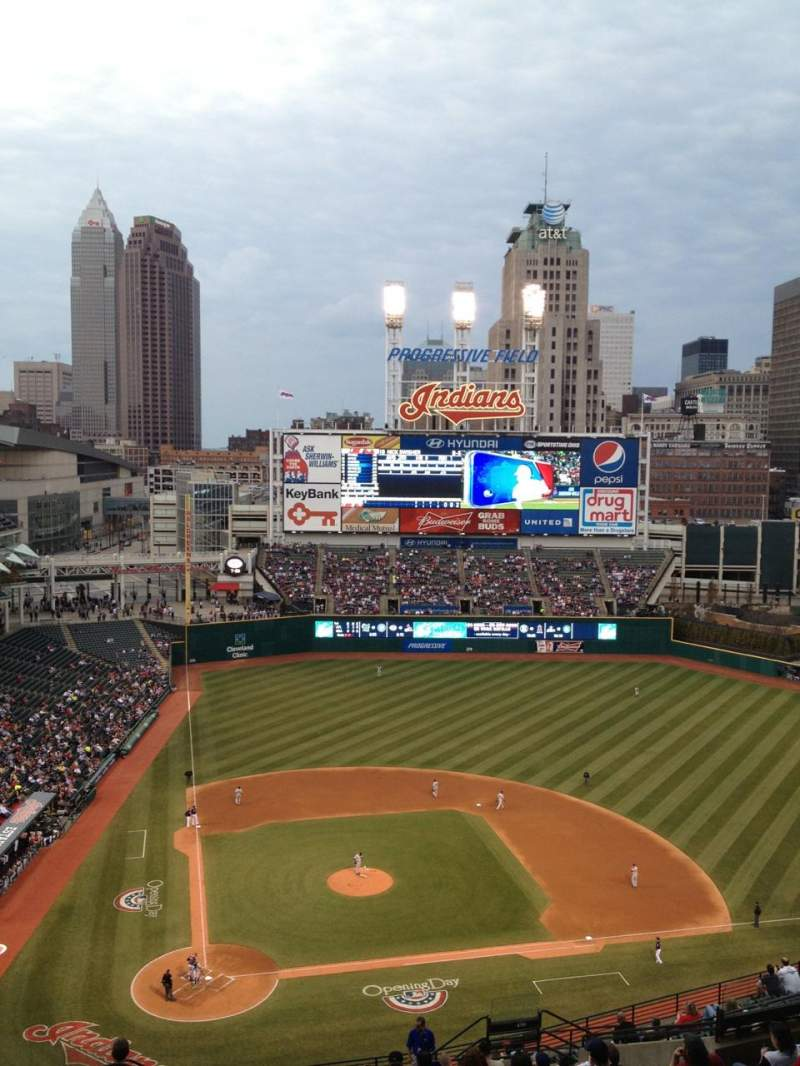 Seating view for Progressive Field Section 550 Row U Seat 17