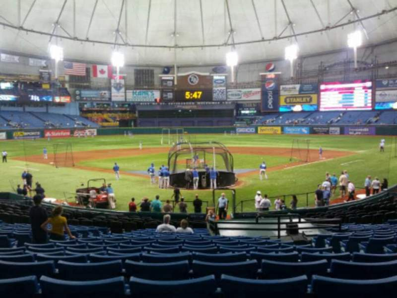 Seating view for Tropicana Field Section 101 Row dd Seat 8